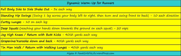 Dynamic Warm Up Simple